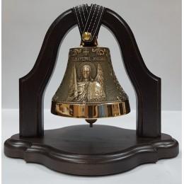 """Колокол бронзовый на подставке """"Архангел Михаил"""" d12 см, 1 кг"""