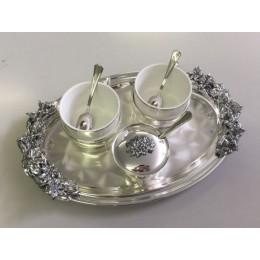 "Чайный набор Chinelli ""You and Me"" silver серия Giglio"
