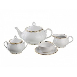 """Чайный фарфоровый сервиз """"Лоретт"""" (15 предметов)"""