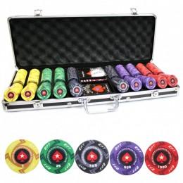 Профессиональный набор для спортивного покера с керамическими фишками