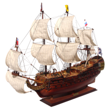 """Модель российского линейного корабля """"Полтава"""" 1783г."""