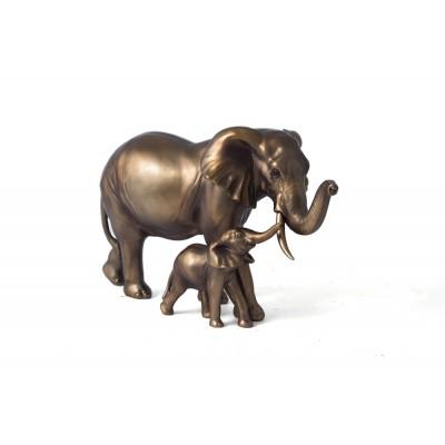 """Фигура декоративная """"Слоны-мама и малыш"""" 30*13*18см"""