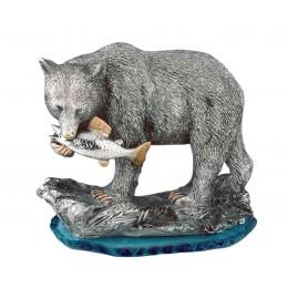 """Статуэтка из серебра BRUNEL """"Медведь-рыболов"""""""