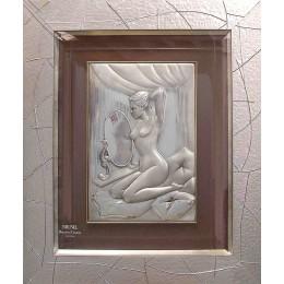 Картина из серебра Brunel «Девушка у зеркала»