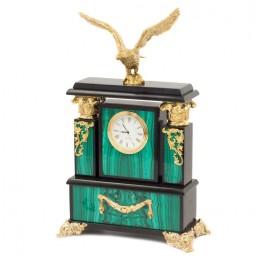 """Декоративные часы из малахита """"Горный орёл"""", высота 29 см"""