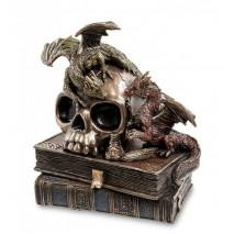 """Статуэтка Veronese """"Драконы на черепе и книгах"""""""