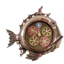 """Статуэтка-часы в стиле Стимпанк Veronese """"Рыба"""""""