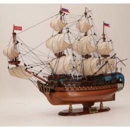"""Модель парусника """"Ингерманланд"""" 1715г., 78x26x73 см"""