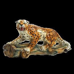 """Керамическая статуэтка """"Леопард на охоте"""""""