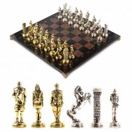 """Оригинальные шахматы """"Великая Отечественная война"""" из камня доска 44х44 см"""