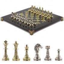 "Подарочные шахматы ""Стаунтон"" 28х28 см из змеевика"