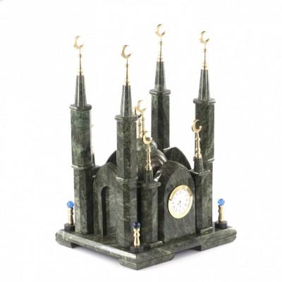 """Часы из камня змеевик """"Мечеть"""""""