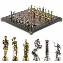 "Настольные шахматы из камня ""Посейдон"" 32х32 см лемезит"