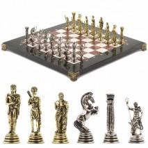 """Настольные шахматы из камня """"Посейдон"""" 32х32 см лемезит мрамор"""
