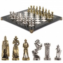 "Шахматы ""Рыцари"" 36х36 см мрамор"