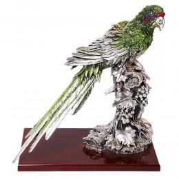 "Скульптура ""Попугай на ветке"", посеребрение Exetera Argenti (Италия)"