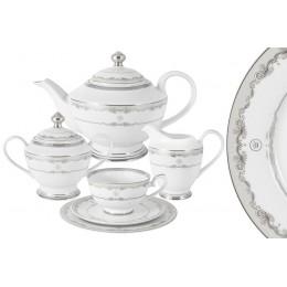 "Чайный сервиз ""Корона"" (серебро) 23 предмета на 6 персон"