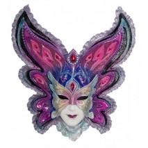"""Венецианская маска Veronese """"Бабочка"""" (разноцветная) WS-357"""