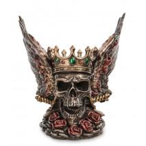 Статуэтка Крылатый череп в короне WS-1067