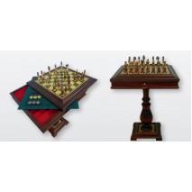 """Подарочный Шахматный стол подарочный Italfama """"Гильош"""" 51х51см"""