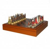 """Подарочные Шахматы Italfama """"Куликовская битва"""" набор игр 3 в 1 (шашки, нарды, шахматы) 35 см."""