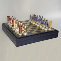 """Подарочные Шахматы подарочные Italfama """"Крестоносцы"""" набор игр 3 в 1 (шашки, нарды, шахматы) 35 см."""