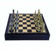"""Подарочные Шахматы подарочные Italfama """"Рим"""" набор игр 3 в 1 (шашки, нарды, шахматы) 35 см."""