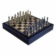 "Подарочные Шахматы Italfama ""Микельанжело"" набор игр 3 в 1 (шашки, нарды, шахматы) 35 см."