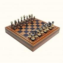 """Подарочные Шахматы подарочные Italfama """"Классика"""" набор игр 3 в 1 (шашки, нарды, шахматы) 35 см."""