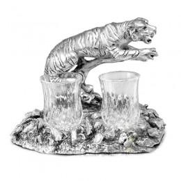 "Набор для водки ""Тигр с рюмками"" (на 2 персоны)"
