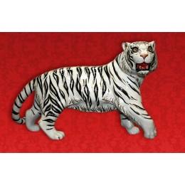 """Подарочный штоф """"Тигр"""" (белый с золотом) со стразами"""