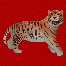 """Подарочный штоф """"Тигр"""" (цветной) со стразами"""
