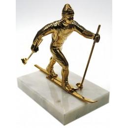 """Бронзовая статуэтка """"Лыжник"""" выс.15см"""