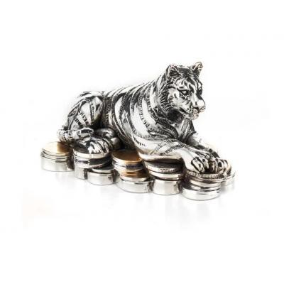 "Подарочная Статуэтка ""Символ 2022 года - Тигр на монетах"""