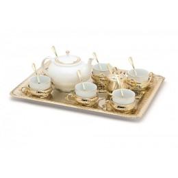 """Чайный сервиз на 6 персон с подносом """"Классика"""""""