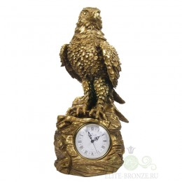 "Каминные часы под бронзу ""Сокол на скале"""