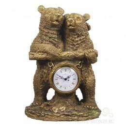"""Каминные часы под бронзу """"Счастливая семья"""""""