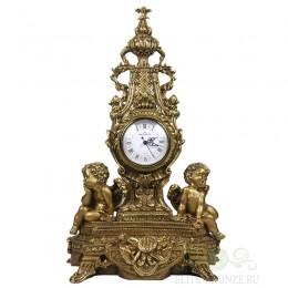 """Каминные часы под бронзу в классическом стиле """"Дворцовые с ангелами Гранд"""""""