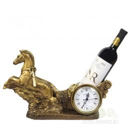 "Каминные часы \ подставка под бутылку ""Колесница"""