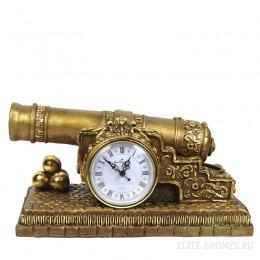 """Каминные часы под бронзу в классическом стиле """"Царь-пушка"""""""