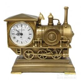 """Каминные часы под бронзу """"Поезд"""""""