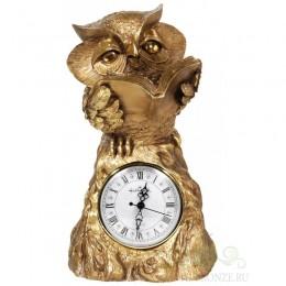"""Каминные часы под старину """"Любопытная сова"""""""