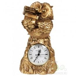 """Каминные часы под бронзу """"Сова"""""""