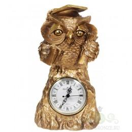 "Каминные часы ""Учёная сова"""