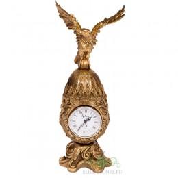 """Каминные часы под бронзу в классическом стиле """"Царская охота"""", коллекция Фаберже"""