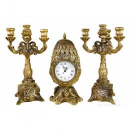 Каминные часы с канделябрами
