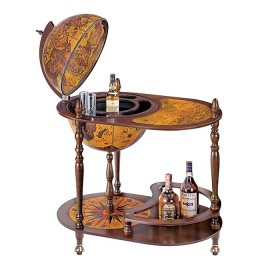 """Напольный глобус-бар со столиком """"Fenice """""""