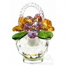 Цветочная композиция из хрусталя