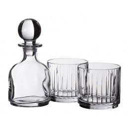Набор для виски 3 пр.: Штоф + 2 стакана 360/320 мл.высота=16/8 см.
