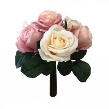 Букет из персиково-розовых роз